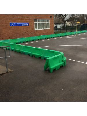 Green Water Filled Playground Barriers and Dividers 21pk