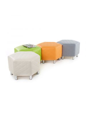 Hexagonal Quilted Seats Set Of 4