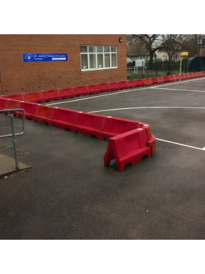 Red Water Filled Playground Barriers and Dividers 21pk