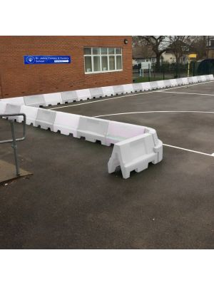 White Water Filled Playground Barriers and Dividers 21pk