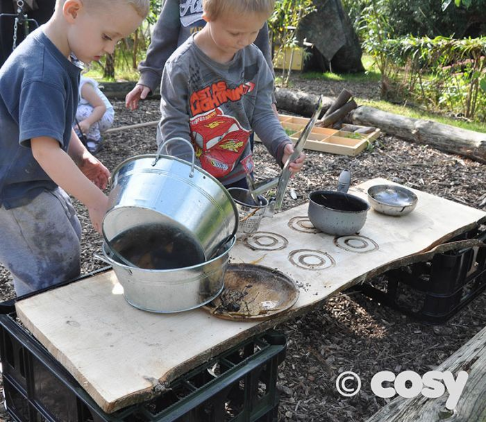 Mud Kitchens in spring