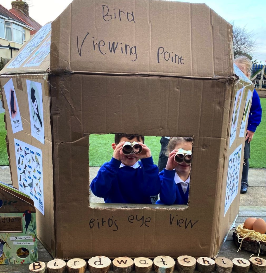 Cardboard box - recycling for play