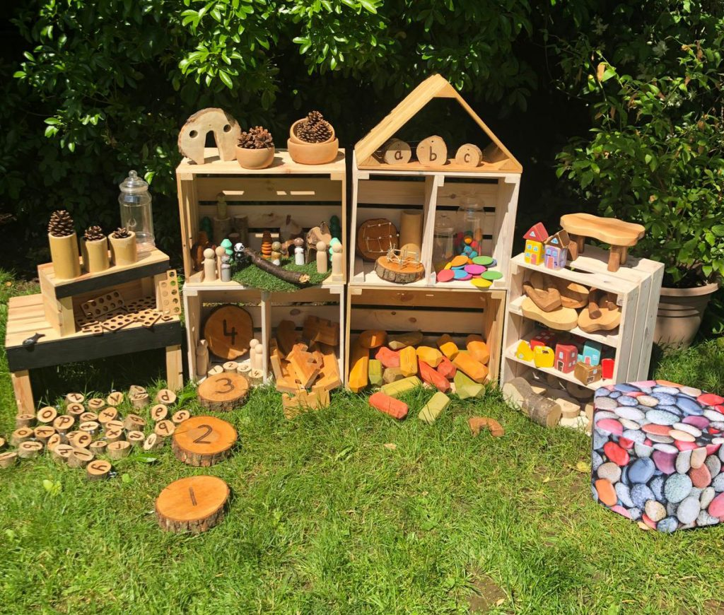 Small Loose Parts Crate Storage