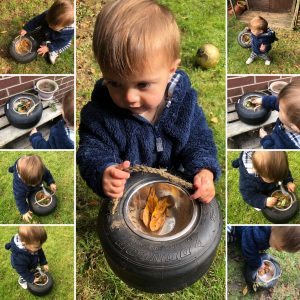 Outdoor play - finding natural treasures