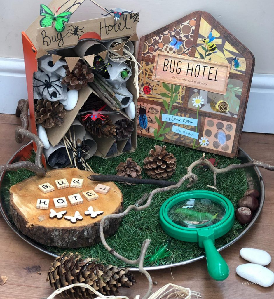 book play - insects - bug hotel
