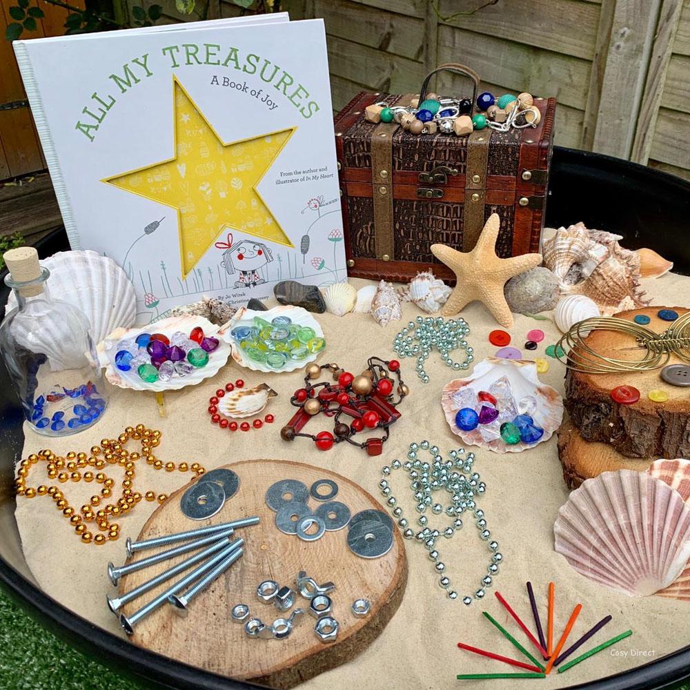 book play - treasures and loose parts