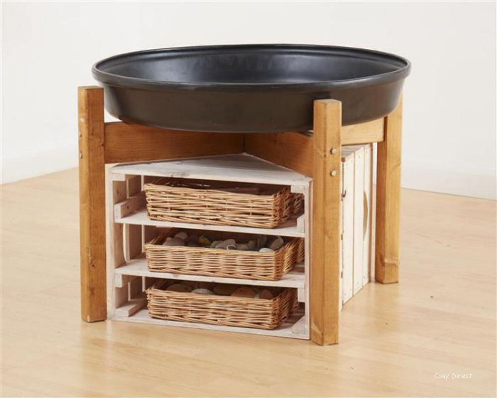 tray play - mini deep spot tray and stand and storage