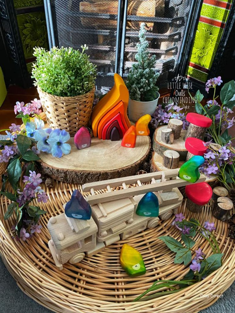 Wicker Tray Play - small worlds