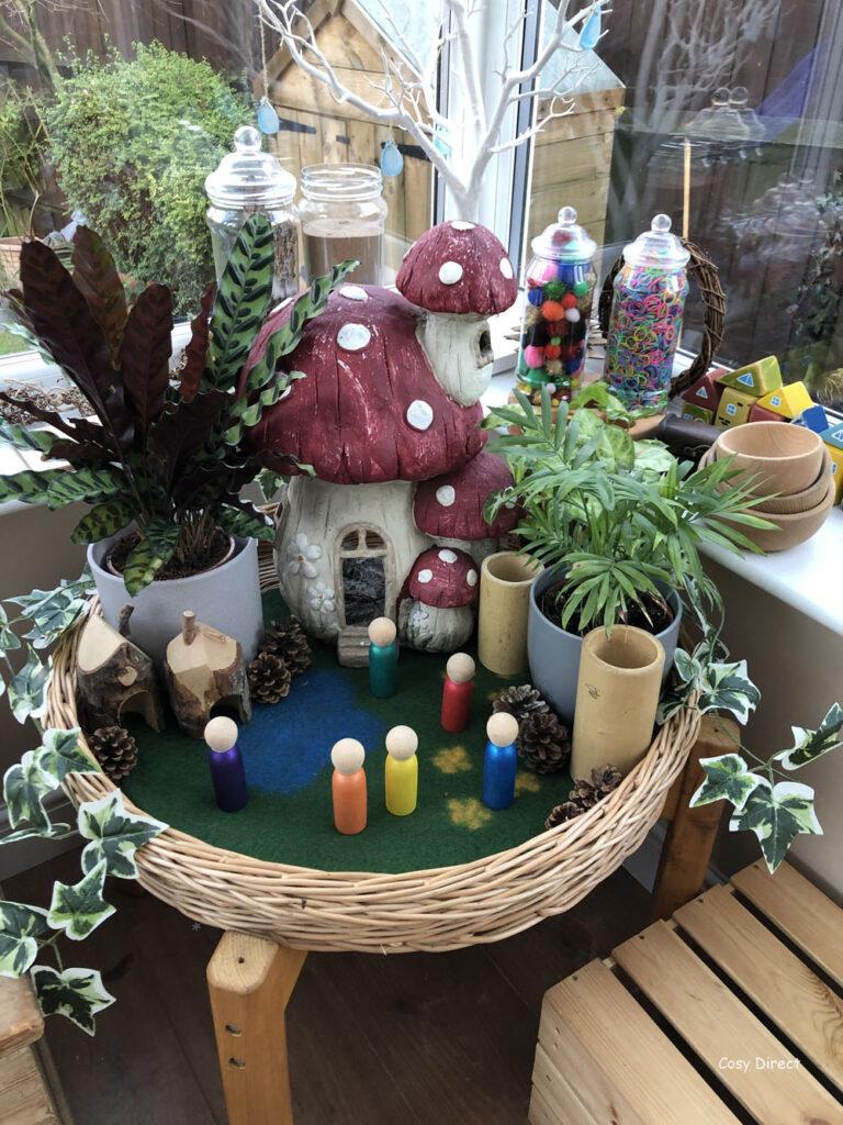 Wicker Tray Play - fairytale world