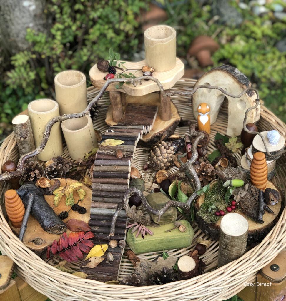 Wicker Tray Play - naturals