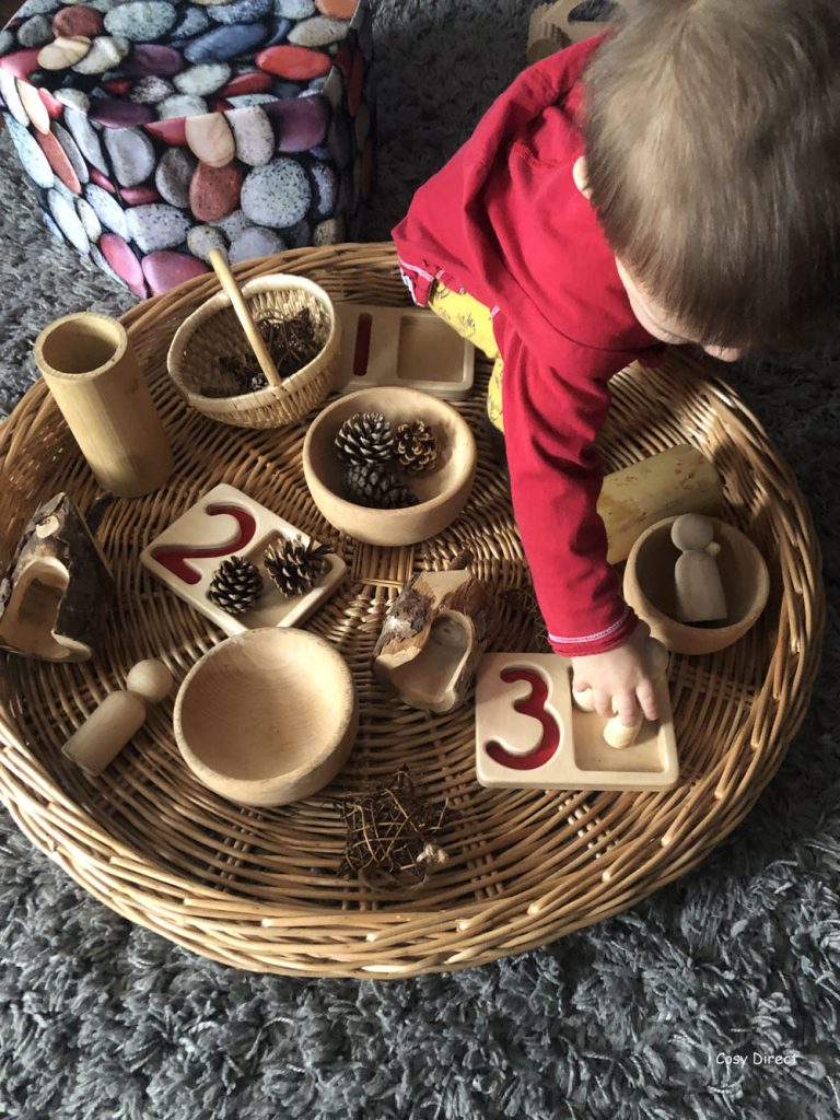 Wicker Tray Play - naturals - heuristic play