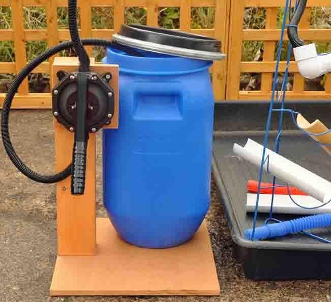 Water play - barrel pump