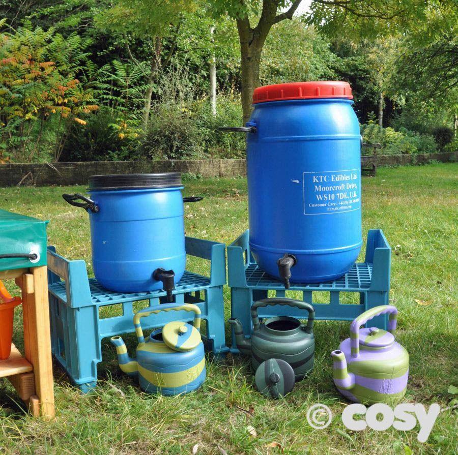 Water play - water pump barrel