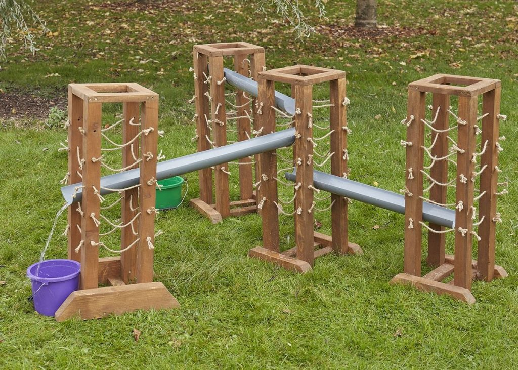 Water play guttering stands